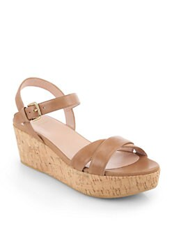 Stuart Weitzman - Crosson Cork Platform Sandals