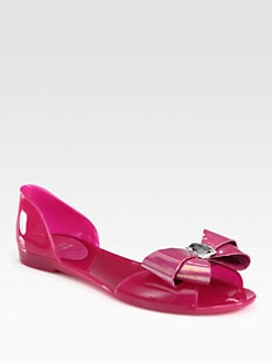 Stuart Weitzman - Gemini Jeweled Bow Jelly Sandals