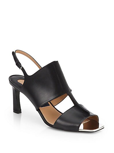 Pamela Leather T-Strap Sandals