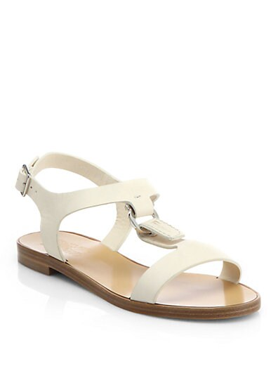Pana Leather T-Strap Sandals