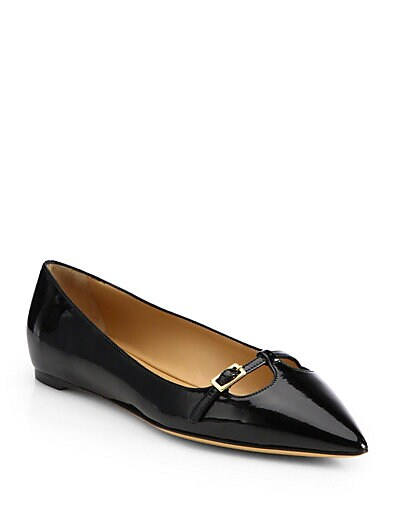 Patty Patent Leather Point-Toe Flats