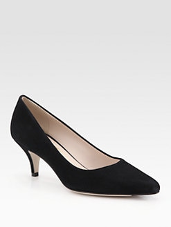 Salvatore Ferragamo - Suede Point Toe Pumps