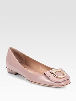 Salvatore Ferragamo - Rebi Leather Ballet Flats