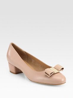 Salvatore Ferragamo - Vara Leather Mid-Heel Pumps