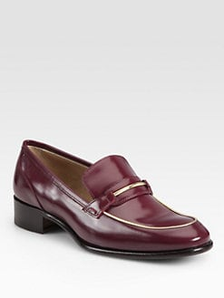 Salvatore Ferragamo - Reed Leather Loafers