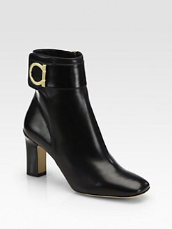 Salvatore Ferragamo - Rupert Leather Ankle Boots