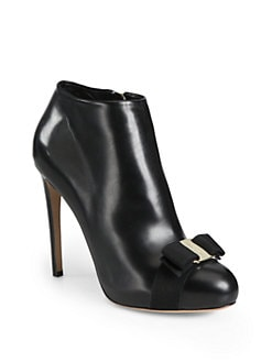 Salvatore Ferragamo - Royal Leather Platform Ankle Boots
