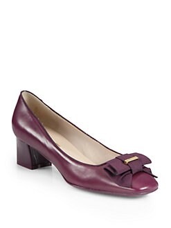 Salvatore Ferragamo - My Muse Leather Bow Pumps