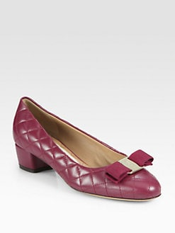 Salvatore Ferragamo - Vara Quilted Leather Pumps