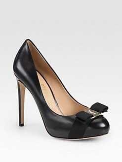 Salvatore Ferragamo - Rilly Leather Platform Pumps