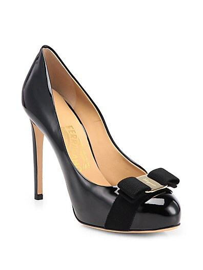 Rilly Patent Leather Bow Pumps