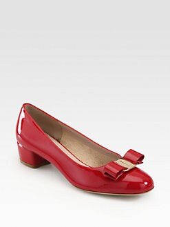 Salvatore Ferragamo - Vara Patent Leather Bow Pumps
