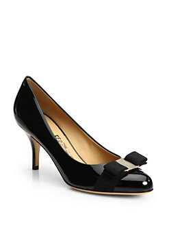 Salvatore Ferragamo - Carla Patent Leather Bow Pumps