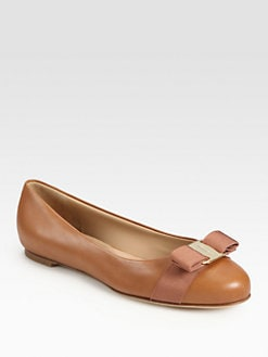 Salvatore Ferragamo - Varina Leather Ballet Flats