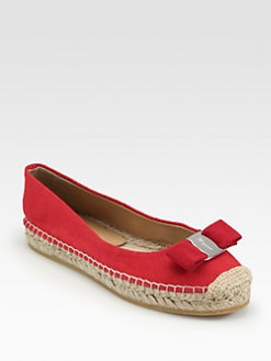 Salvatore Ferragamo - Blake Canvas Bow Espadrilles