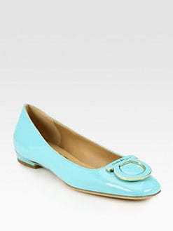Salvatore Ferragamo - Sanna Patent Leather Ballet Flats