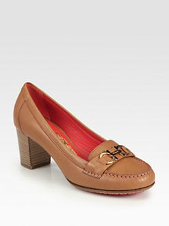 Salvatore Ferragamo - Simba Leather Loafer Pumps