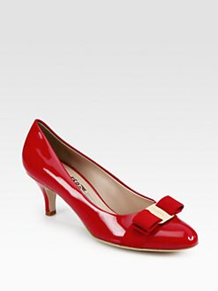 Salvatore Ferragamo - Carla Patent Leather Pumps