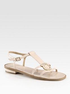 Salvatore Ferragamo - Gancio Stephanie Patent Leather Sandals