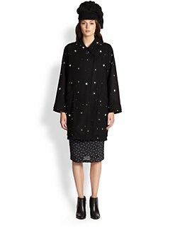 Boy. by Band of Outsiders - Crystal-Embellished Melton Wool Coat
