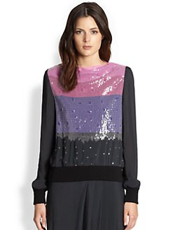 Boy. by Band of Outsiders - Sequined Sweatshirt Top