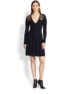 Thakoon - Lace-Insert Knit Dress