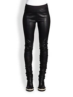 Ann Demeulemeester - Peltry Leather Leggings