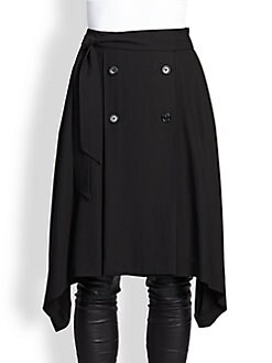 Ann Demeulemeester - Button-Front Asymmetrical Skirt