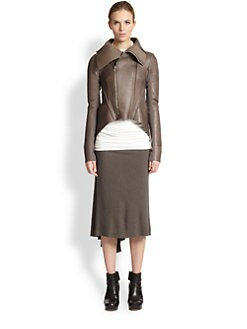 Rick Owens Lilies - Spliced Leather Jacket
