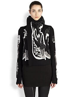 Rick Owens - Embroidered Biker Jacket