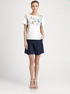Cacharel - Pleated Toile Shorts