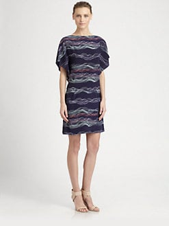 Cacharel - Printed Stretch Crepe Dress