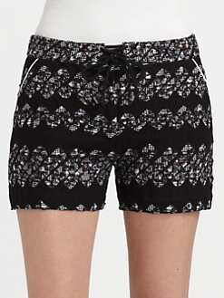 Boy. by Band of Outsiders - Printed Lace-Up Shorts