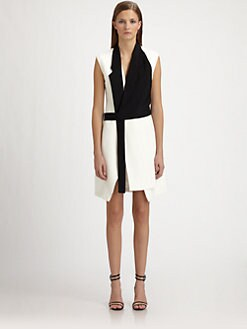 Costume National - Tuxedo Wrap Coatdress