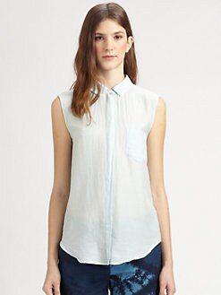 Boy. by Band of Outsiders - Sleeveless Collared Shirt