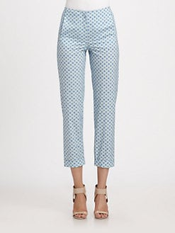 Cacharel - Cropped Printed Pants