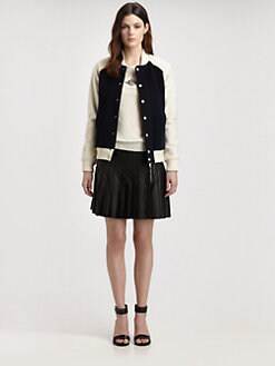 Boy. by Band of Outsiders - Shearling-Sleeve Varsity Jacket