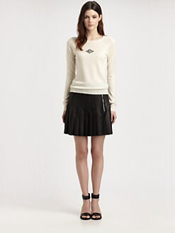 Boy. by Band of Outsiders - Pleated Leather Skirt