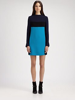 Costume National - Colorblock Dress