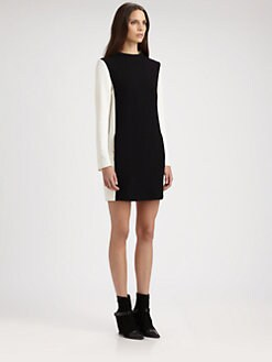 Costume National - Two-Tone Dress