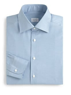 Ermenegildo Zegna - Printed Cotton Dress Shirt