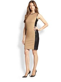 Ralph Lauren Black Label - Winton Leather & Camel Hair Dress