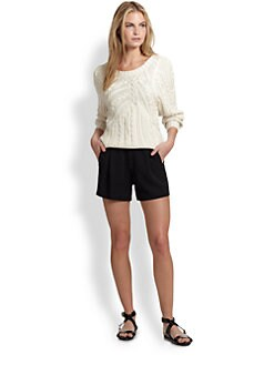 Ralph Lauren Black Label - Silk Open-Neck Sweater