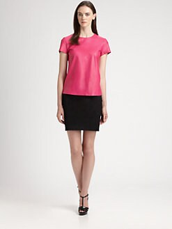 Ralph Lauren Black Label - Leather Rowena Top