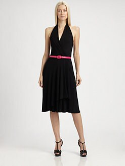 Ralph Lauren Black Label - Melia Satin Jersey Wrap Dress