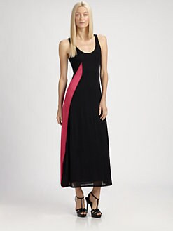 Ralph Lauren Black Label - Long Colorblock Dress