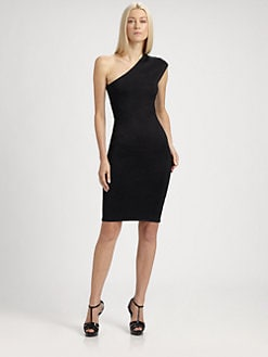 Ralph Lauren Black Label - Asymmetrical Silk Knit Dress