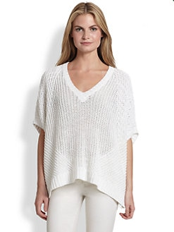Ralph Lauren Black Label - Knit Linen Poncho