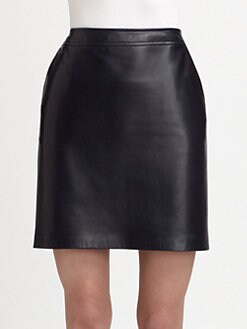 Ralph Lauren Black Label - Leather Cassy Skirt