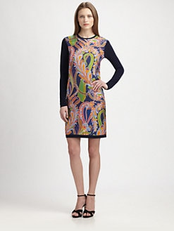 Ralph Lauren Black Label - Paisley Front Cashmere Dress